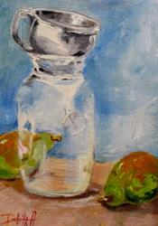Art: Canning Jar and Pears by Artist Delilah Smith