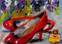 Art: Red High Heels by Artist Delilah Smith