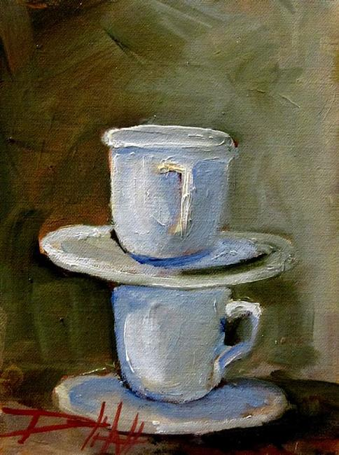 Art: Two Cups by Artist Delilah Smith