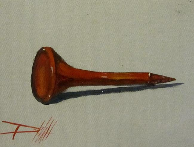 Art: Red Golf Tee by Artist Delilah Smith