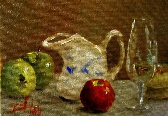 Art: Apples and Pitcher by Artist Delilah Smith