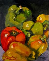 Art: Perky Peppers by Artist Delilah Smith