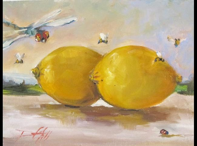 Art: Luscious Lemons by Artist Delilah Smith