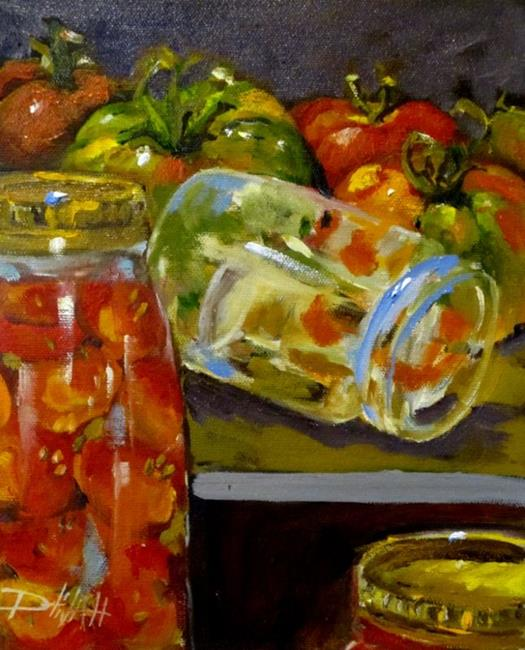 Art: Home Canned Tomatos by Artist Delilah Smith