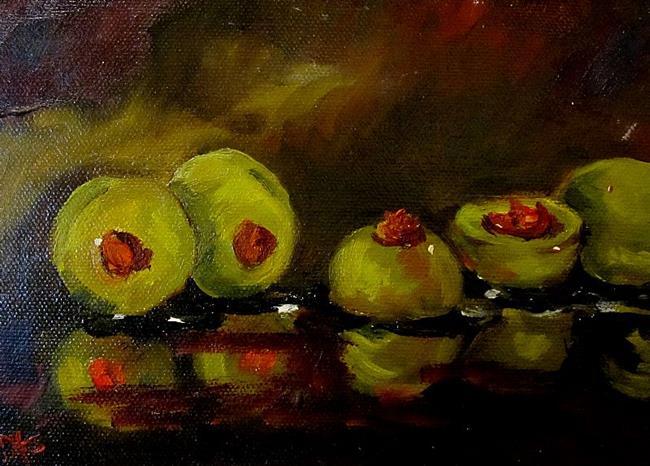 Art: Olive Still Life by Artist Delilah Smith