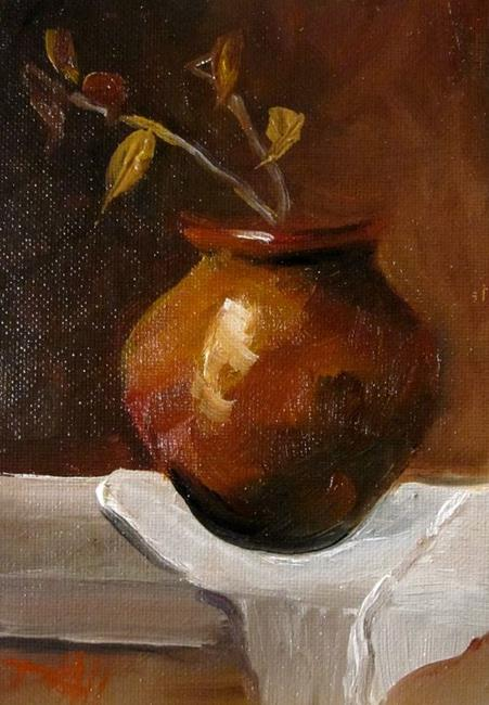Art: Clay Pot-SOLD by Artist Delilah Smith