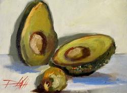 Art: Avocado-SOLD by Artist Delilah Smith