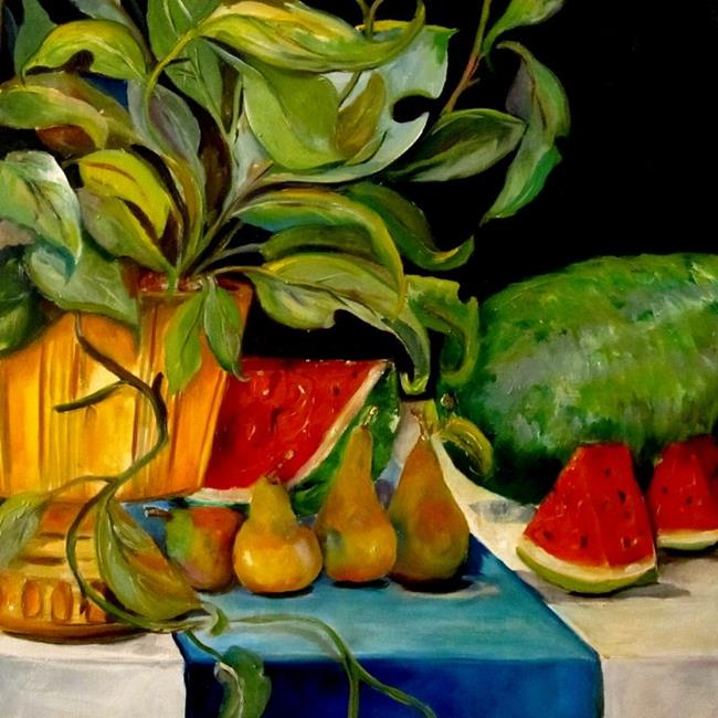 Art: Watermelon and Fruit by Artist Delilah Smith