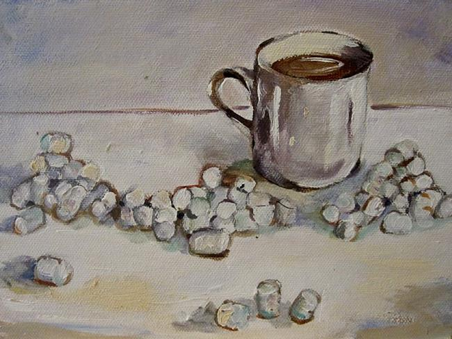 Art: Miniature Marshmallow Cup of CoCo by Artist Delilah Smith