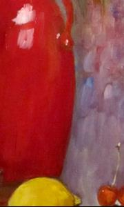 Detail Image for art Red Vase