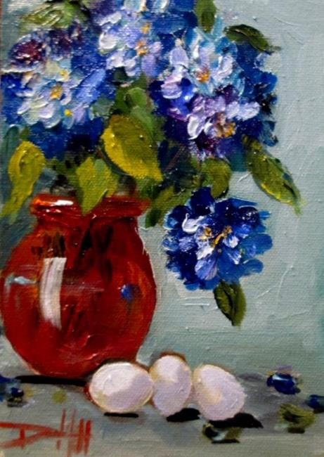 Art: Blue,Red,White by Artist Delilah Smith