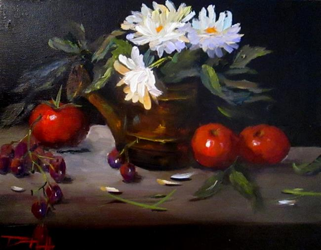 Art: Watering Can and Flowers by Artist Delilah Smith