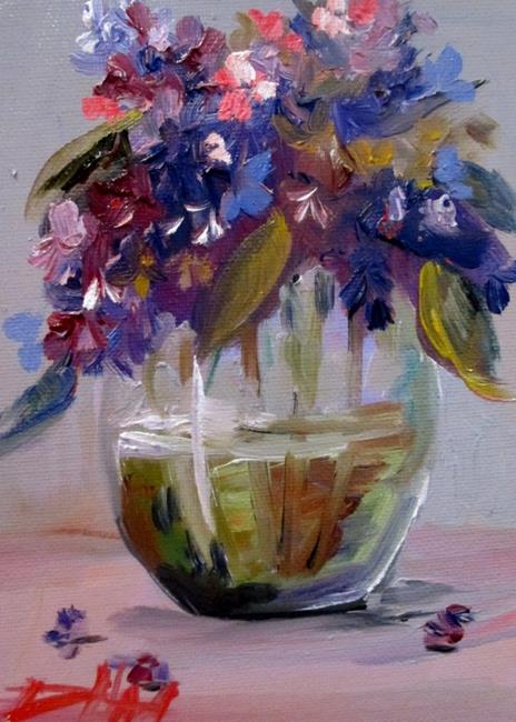 Art: Lilacs-sold by Artist Delilah Smith