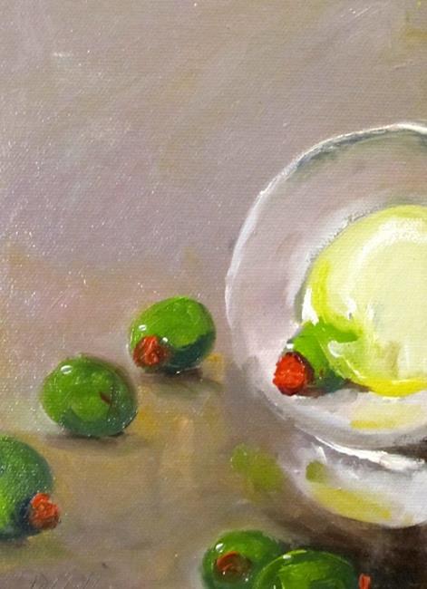 Art: Martini Olives by Artist Delilah Smith