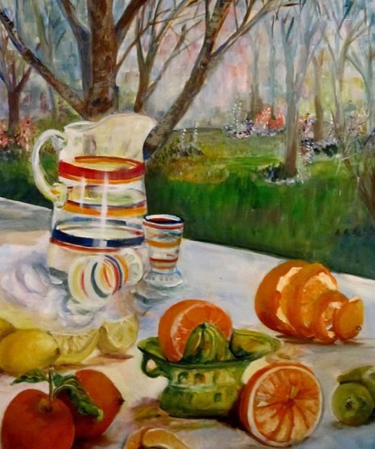 Art: Picnic by Artist Delilah Smith
