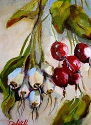 Art: Radish and Shallots-SOLD by Artist Delilah Smith