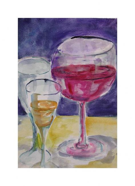 Art: Wine Glasses-sold by Artist Delilah Smith