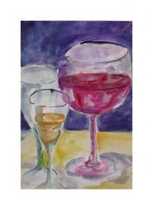 Detail Image for art Wine Glasses-sold