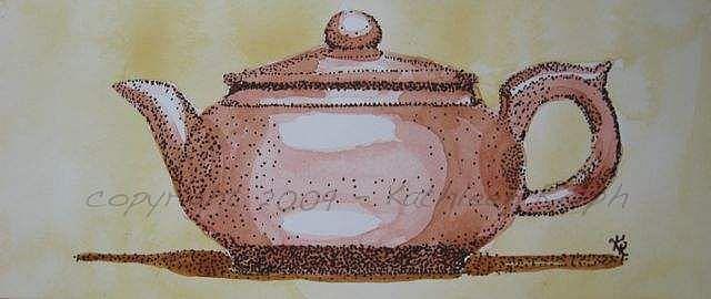 Art: Teapot Portrait by Artist Kathleen Ralph