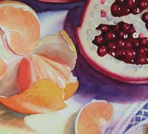 Detail Image for art Pomagranates and Tangerines SOLD