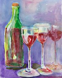 Art: Wine by Artist Delilah Smith