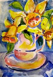Art: Cup of Daffodils-sold by Artist Delilah Smith
