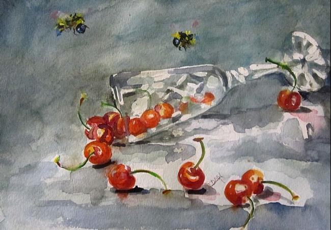 Art: Cherry Wine by Artist Delilah Smith