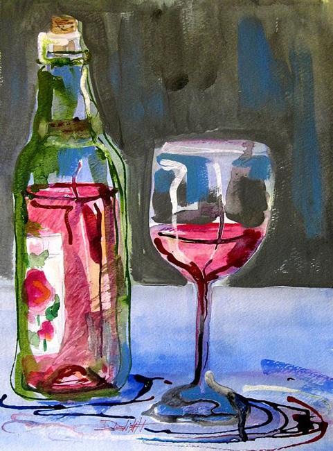 Art: Glass of Rose by Artist Delilah Smith