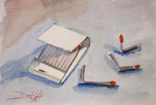 Art: red-match (800x539).jpg by Artist Delilah Smith