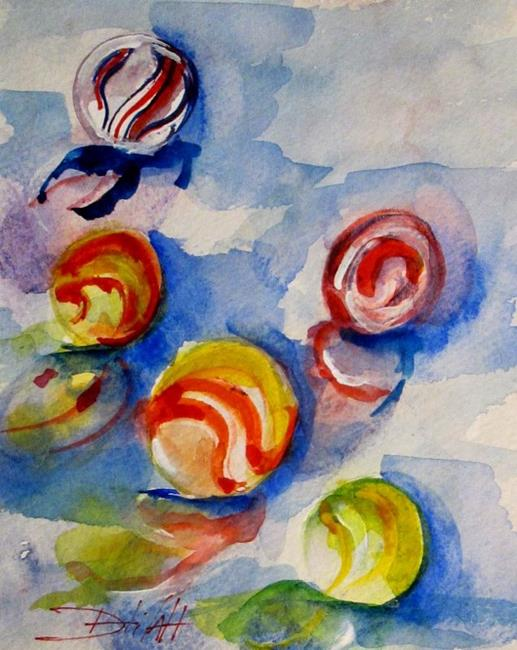 Art: Marbles by Artist Delilah Smith