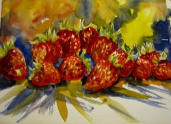 Art: Expressions of Strawberries by Artist Delilah Smith
