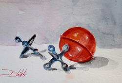 Art: Jacks and Ball by Artist Delilah Smith