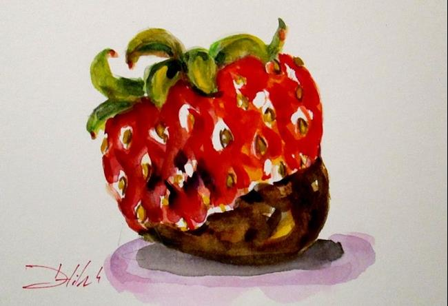 Art: Strawberry Dipped in Chocolate by Artist Delilah Smith