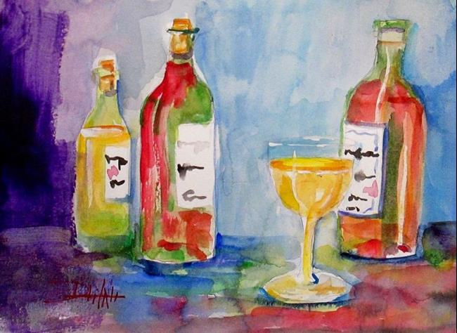 Art: WIne Bottles by Artist Delilah Smith
