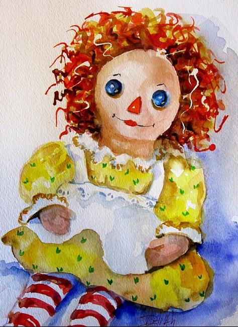Art: Raggedy Ann Doll by Artist Delilah Smith