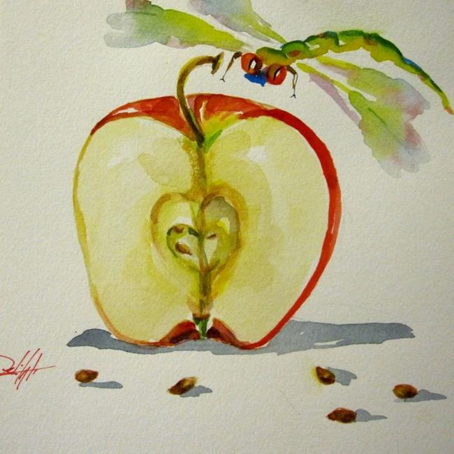 Art: Dragonfly and Apple by Artist Delilah Smith