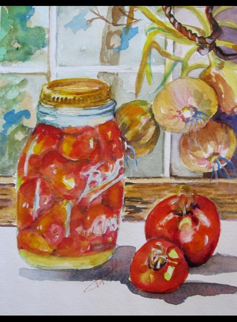 Art: Canning Time by Artist Delilah Smith