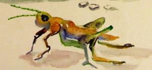 Detail Image for art Red Pepper and Grasshopper