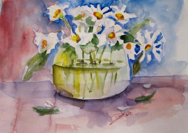 Art: Daisy Still Life by Artist Delilah Smith