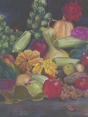 Art: Garden Harvest by Artist Carol Thompson
