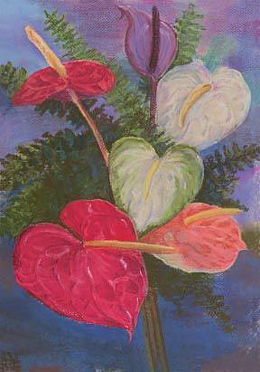 Art: Anthurium by Artist Carol Thompson