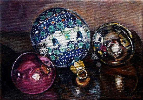 Art: For the Tree: Polish Pottery XLVII© by Artist Heather Sims