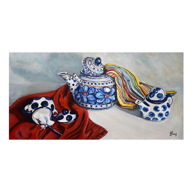 Art: Teapot: Polish Pottery LXVII by Artist Heather Sims