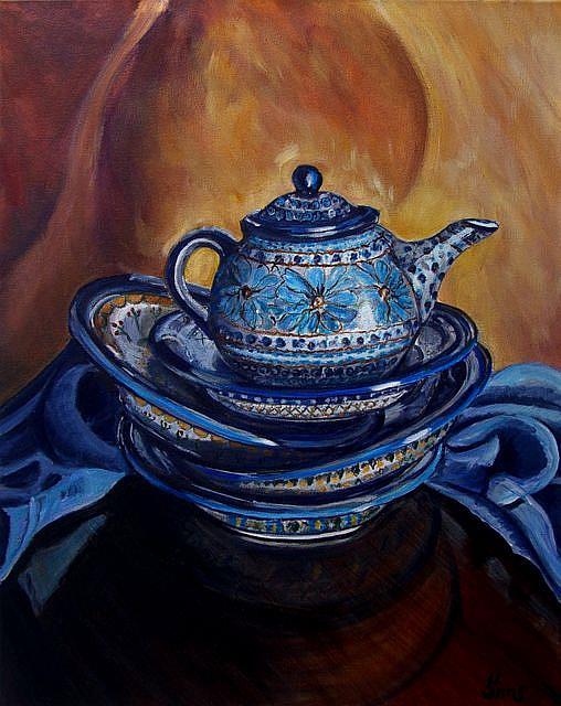 Art: Unikat Stacked!: Polish Pottery XLIII© by Artist Heather Sims