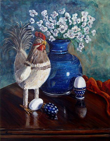 Art: Chicken: Polish Pottery XLIX by Artist Heather Sims