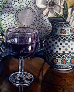 Detail Image for art Glass of Wine: Polish Pottery LIV