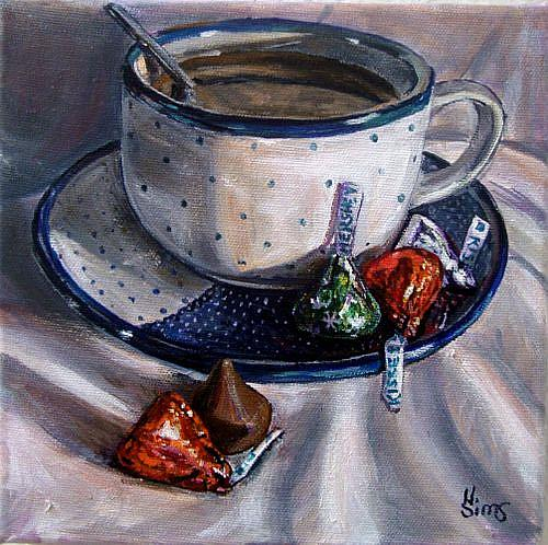 Art: Holiday Kisses: Polish Pottery LVIII by Artist Heather Sims