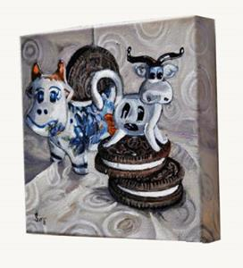 Detail Image for art Cows and Cookies: Polish Pottery LIX