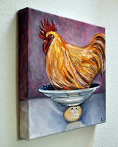 Detail Image for art Rooster, Bowl and an Egg