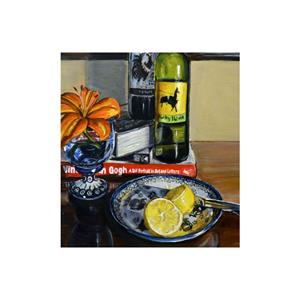 Detail Image for art Wine Bottles and Flowers: Polish Pottery LX